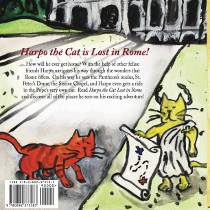 Harpo the Cat, Lost in Rome Back Cover